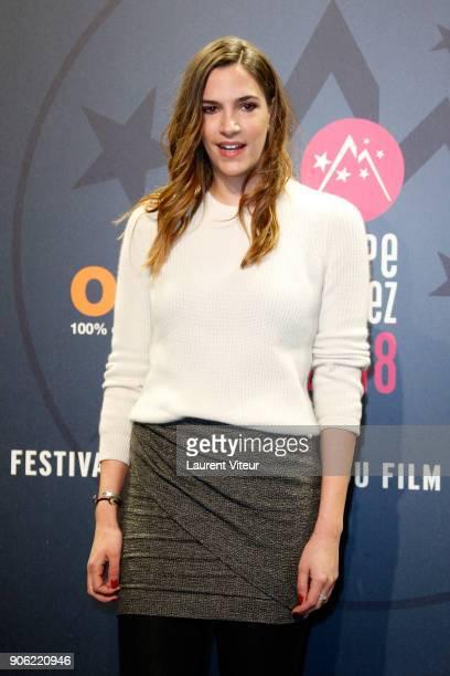 Actress Charlotte Gabris attends 'Les Aventures de Spirou et Fantasio' Premiere during the 21st Alpe D'Huez International Comedy Film Festival on...