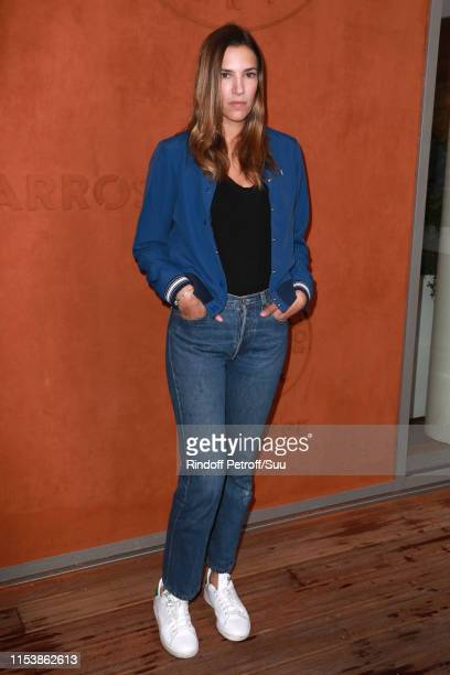 Actress Charlotte Gabris attends the 2019 French Tennis Open Day Eleven at Roland Garros on June 05 2019 in Paris France