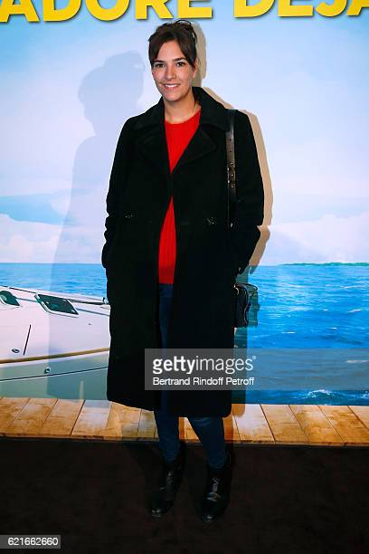 Actress Charlotte Gabris attends the Ma famille t'adore deja' Paris Premiere at Cinema Elysee Biarritz on November 7 2016 in Paris France
