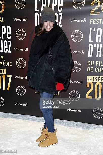 Actress Charlotte Gabris attends the Photocall Le Jamel Comedy Club prend de l'Altitude at Le Signal at a 2108 meter height on January 18 2017 in...