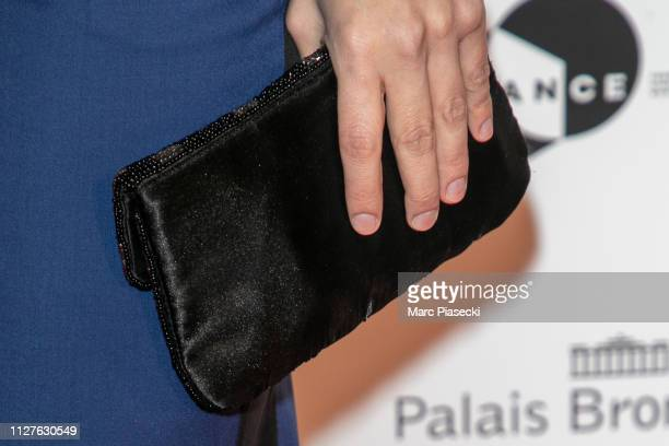 Actress Charlotte Gabris clutch bag detail attends the 26th Trophees Du Film Francais Photocall at Palais Brongniart on February 05 2019 in Paris...