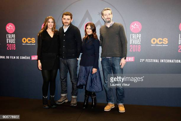 Actress Charlotte Gabris Director Alexandre Coffre Actress Audrey Dana and Actor Vincent Desagnat attend Opening Ceremony during the 21st L'Alpe...
