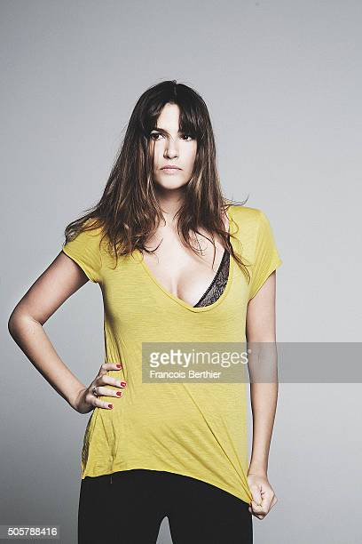 Actress Charlotte Gabris is photographed for Self Assignment on November 17 2015 in Paris France