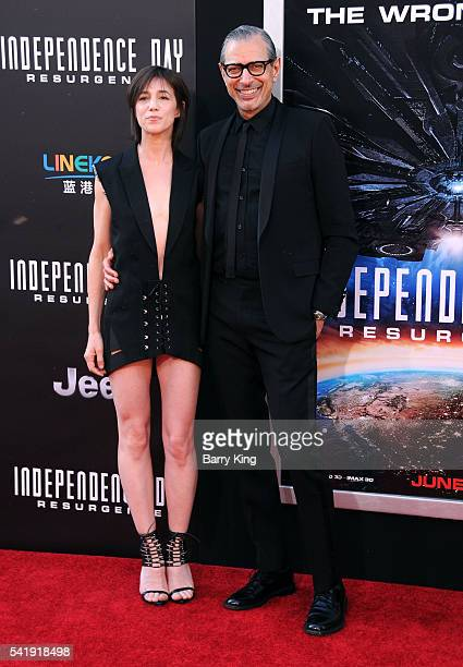 Actress Charlotte Gainsbourg and actor Jeff Goldblum attend the premiere of 20th Century Fox's' 'Independence Day Resurgence' at TCL Chinese Theatre...