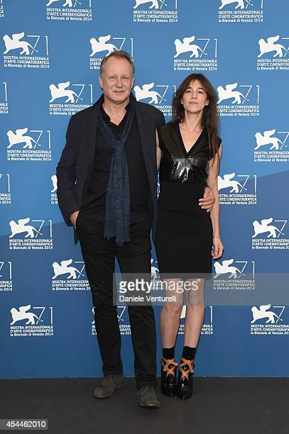 Actress Charlotte Gainsbourg and actor Stellan Skarsgard attends the 'Nymphomaniac Volume 2 Directors Cut' Photocall during the 71st Venice Film...