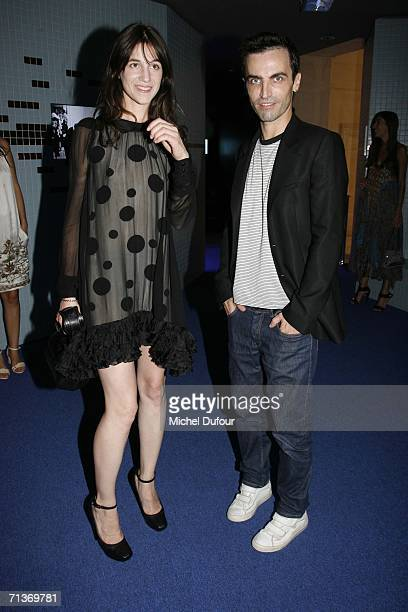 Actress Charlotte Gainsbourg and designer Nicolas Ghesquiere attend a retrospective of the work of Cristobal Balenciaga at the Museum of Fashion and...