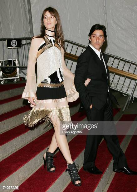 Actress Charlotte Gainsbourg and husband actor Yvan Attal leave The Metropolitan Museum of Art's Costume Institute Gala May 07, 2007 in New York City.