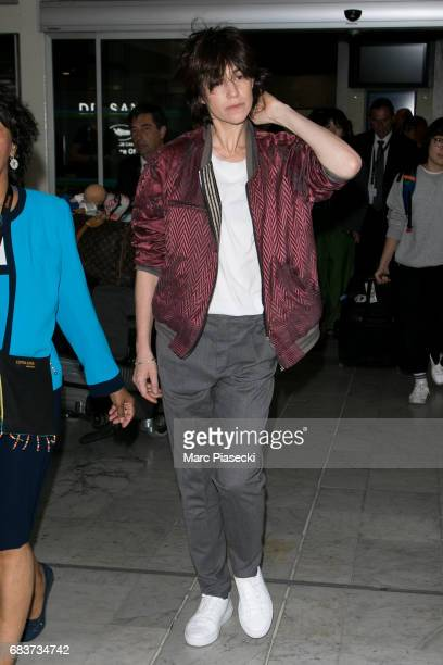 Actress Charlotte Gainsbourg arrives at Nice airport ahead of the 70th annual Cannes Film Festival at on May 16 2017 in Cannes France