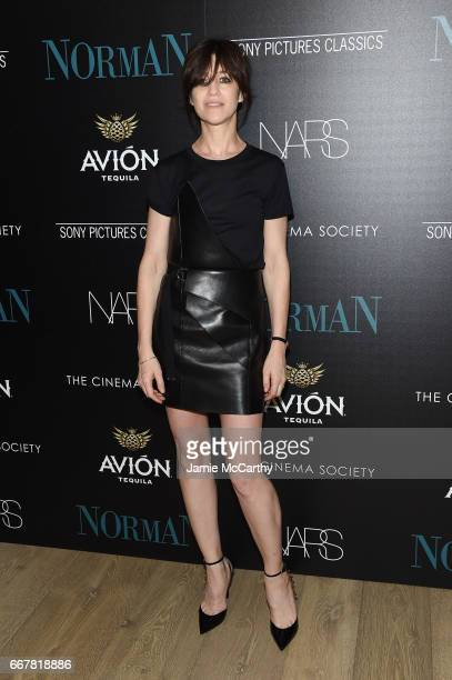 Actress Charlotte Gainsbourg attends a screening of Sony Pictures Classics' 'Norman' hosted by The Cinema Society at the Whitby Hotel on April 12...