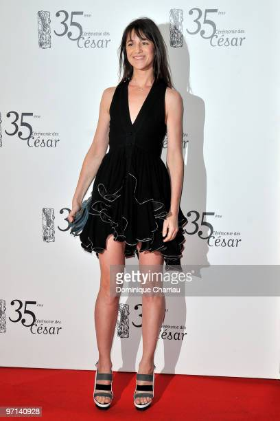 Actress Charlotte Gainsbourg attends the 35th Cesar Film Awards at Theatre du Chatelet on February 27 2010 in Paris France