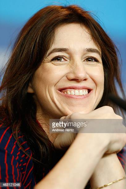 Actress Charlotte Gainsbourg attends the 'Every Thing Will Be Fine' press conference during the 65th Berlinale International Film Festival at Grand...