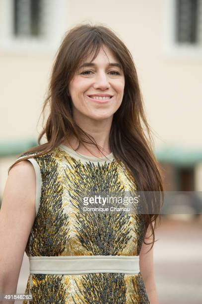 Actress Charlotte Gainsbourg attends the Louis Vuitton Cruise Line Show at place d'armes on May 17 2014 in MonteCarlo Monaco