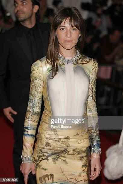 Actress Charlotte Gainsbourg attends the Metropolitan Museum of Art Costume Institute Gala 'Superheroes Fashion And Fantasy' at the Metropolitan...