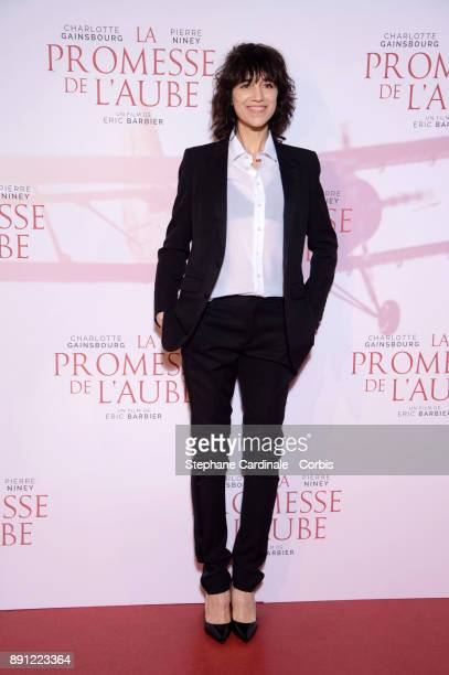 Actress Charlotte Gainsbourg attends the premiere of 'La Promesse De L'Aube' at Cinema Gaumont Capucine on December 12 2017 in Paris France