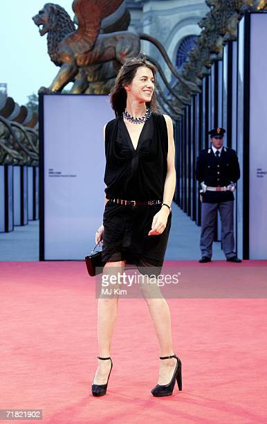 Actress Charlotte Gainsbourg attends the premiere of the film 'Nuovomondo during the tenth day of the 63rd Venice Film Festival on September 8 2006...