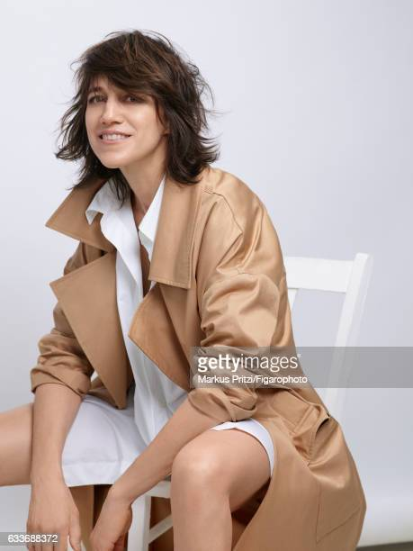 Actress Charlotte Gainsbourg is photographed for Madame Figaro on December 16 2016 in Paris France Trench and shirt COVER IMAGE CREDIT MUST READ...