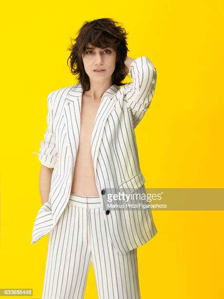 Actress Charlotte Gainsbourg is photographed for Madame Figaro on December 16 2016 in Paris France Suit CREDIT MUST READ Markus...