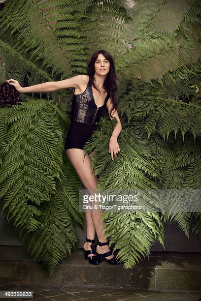 109160009 Actress Charlotte Gainsbourg is photographed for Madame Figaro on April 5 2014 in Paris France All Makeup by Dior COVER IMAGE CREDIT MUST...