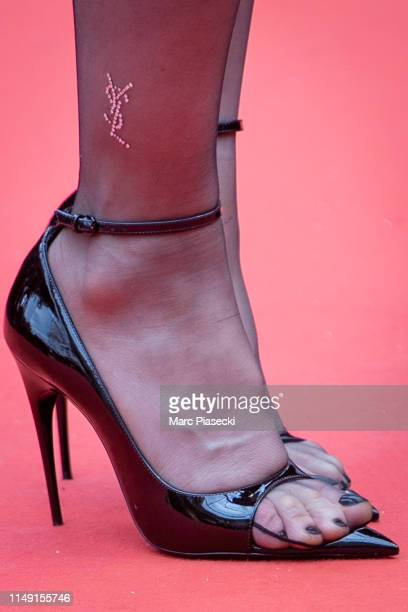 Actress Charlotte Gainsbourg shoe detail attends the opening ceremony and screening of The Dead Don't Die during the 72nd annual Cannes Film Festival...