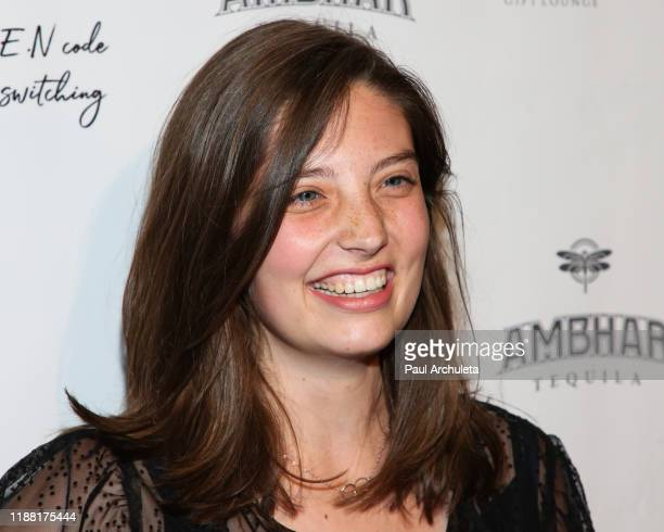 Actress Charlotte Hendrickx attends the media night preview of BROKEN Code BIRD Switching at S Feury Theater on November 16 2019 in Los Angeles...