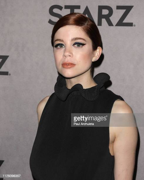 Actress Charlotte Hope attends the 2019 Winter TCA Tour STARZ red carpet event at 71Above on February 12 2019 in Los Angeles California