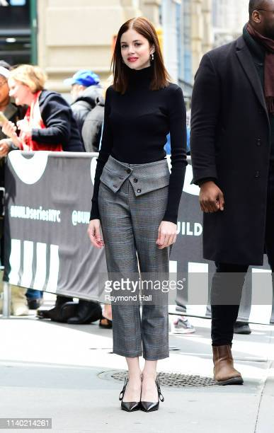Actress Charlotte Hope is seen outside aol build on April 29, 2019 in New York City.