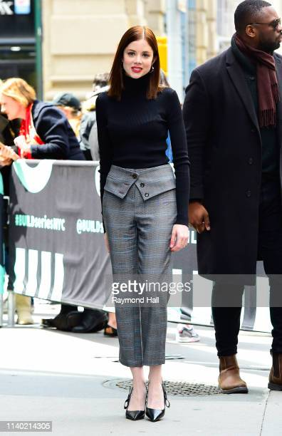 Actress Charlotte Hope is seen outside aol build on April 29 2019 in New York City