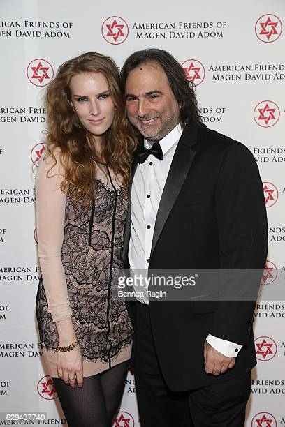 Actress Charlotte Kirk and producer Joshua Newton attend the American Friends Of Magen David Adom New York Gala on December 12 2016 in New York City