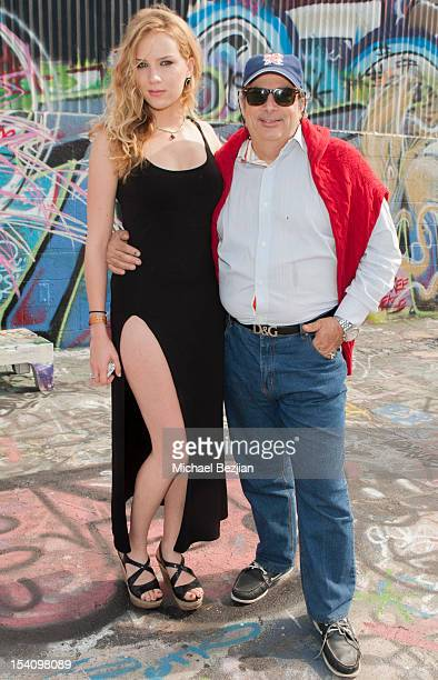 Actress Charlotte Kirk and Producer Robert King attend David Arquette's Piece Fest a music and street festival to benefit Pico Union Housing Corp and...