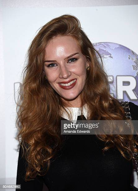 Actress Charlotte Kirk arrives at NBCUniversal's 73rd Annual Golden Globes After Party at The Beverly Hilton Hotel on January 10 2016 in Beverly...
