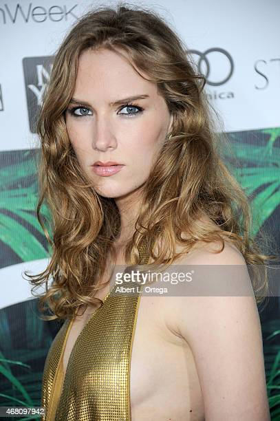 Actress Charlotte Kirk at the 2015 Los Angeles Style Fashion Week show held at The Reef on March 21 2015 in Los Angeles California