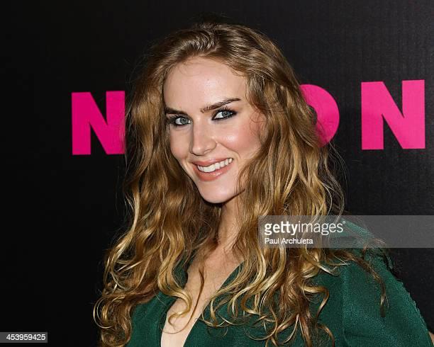 Actress Charlotte Kirk attends NYLON Magazine's December issue celebration at Smashbox West Hollywood on December 5 2013 in West Hollywood California