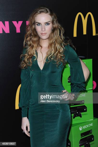 Actress Charlotte Kirk attends NYLON Magazine's December Issue Celebration featuring cover star Demi Lovato at Smashbox West Hollywood on December 5...