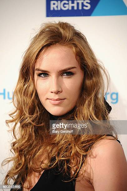 Actress Charlotte Kirk attends the 2014 RFK Ripple Of Hope Awards at New York Hilton on December 16 2014 in New York City