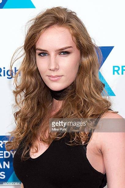 Actress Charlotte Kirk attends the 2014 Robert F Kennedy Ripple Of Hope Awards at the New York Hilton on December 16 2014 in New York City