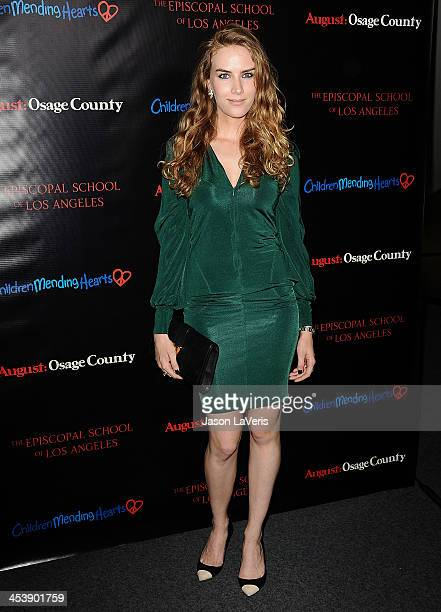 Actress Charlotte Kirk attends the August Osage County benefit screening at the Landmark Theater on December 5 2013 in Los Angeles California