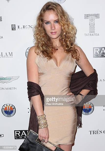 Actress Charlotte Kirk attends The Luxury Review at the Petersen Automotive Museum on October 3 2012 in Los Angeles California