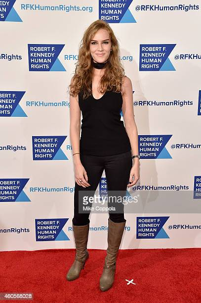 Actress Charlotte Kirk attends the RFK Ripple Of Hope Gala at Hilton Hotel Midtown on December 16 2014 in New York City