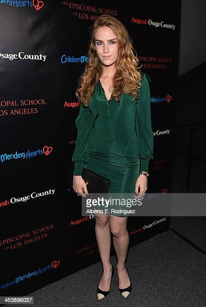"Actress Charlotte Kirk attends The Weinstein Company's screening of ""August: Osage County"" benefitting Children Mending Hearts & The Episcopal School..."