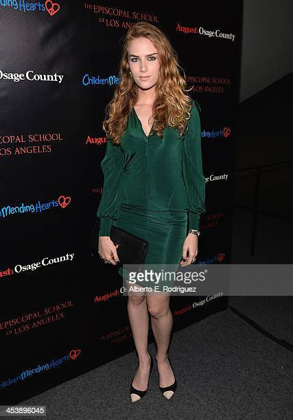 Actress Charlotte Kirk attends The Weinstein Company's screening of August Osage County benefitting Children Mending Hearts The Episcopal School of...