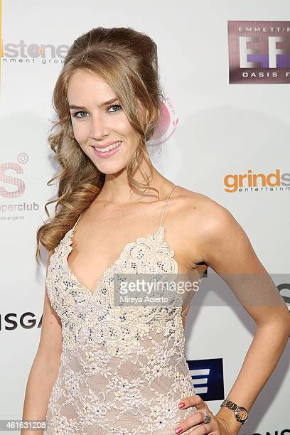 Actress Charlotte Kirk attends Vice Los Angeles Premiere after party on January 15 2015 in Los Angeles California