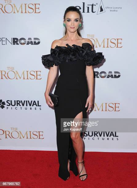 Actress Charlotte Le Bon arrives at the Los Angeles Premiere 'The Promise' at TCL Chinese Theatre on April 12 2017 in Hollywood California