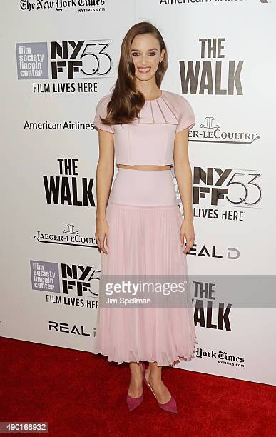 Actress Charlotte Le Bon attends the 53rd New York Film Festival opening night gala presentation and 'The Walk' world premiere at Alice Tully Hall at...