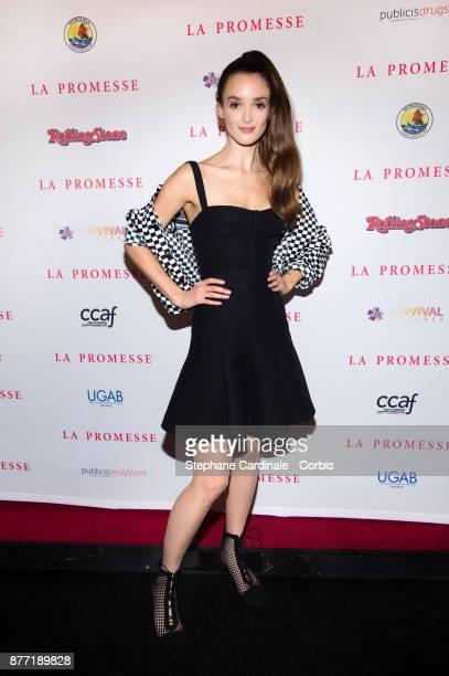 Actress Charlotte Le Bon attends the 'The Promise La Promesse' Paris Premiere at Publicis Champs Elysees on November 21 2017 in Paris France