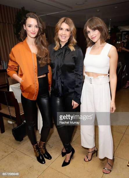 Actress Charlotte Le Bon Cosmopolitan Magazine Editor in Chief Michele Promaulayko and actress Alison Brie attend Cosmopolitan's dinner for Michele...