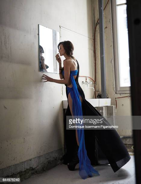 Actress Charlotte Le Bon is photographed for Madame Figaro on January 27 2017 in Paris France Dress Makeup by Dior PUBLISHED IMAGE CREDIT MUST READ...