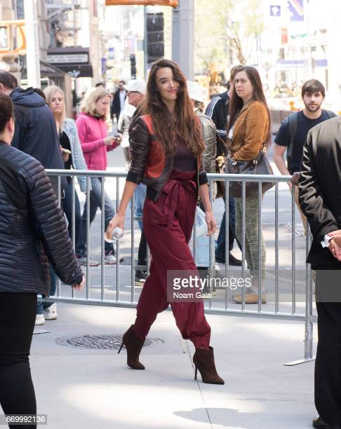 Actress Charlotte Le Bon seen on the streets of Manhattan on April 18 2017 in New York City