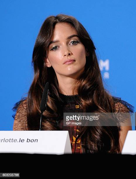 Actress Charlotte Le Bon speaks onstage at 'The Promise' press conference during 2016 Toronto International Film Festival at TIFF Bell Lightbox on...