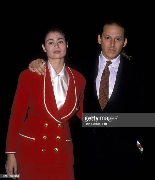 Actress Charlotte Lewis and date Mario Sotela sighted on November 18 1988 at Spago Restaurant in West Hollywood California