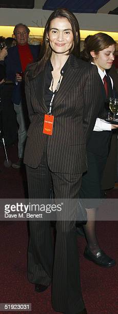 Actress Charlotte Lewis arrives for the press night of the presentation of Dralion by the Cirque Du Soleil on January 6 2005 in London